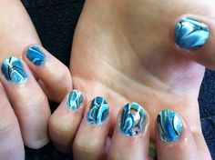 Water swirl fun nail art and soooo easy