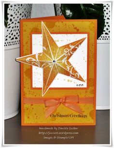 A Stampin' Up! Homemade Christmas Cards, Stampin Up Christmas, Christmas Star, Homemade Cards, Stampin Up Weihnachten, Star Cards, Nouvel An, Winter Cards, Christmas Projects