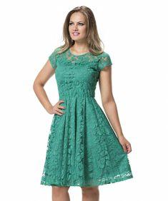 cfdc033e8d Vestido de Festa Rodado Midi Verde Jade