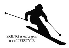 Skiers understand Silhouette Images, Silhouette Cameo, Skiing Quotes, Snowboards, Stick Wall Art, Freestyle Skiing, Ski Racing, Cooler Painting, Snow Fun