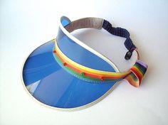 Blue Vintage Novelty Light-Up Visor Shade