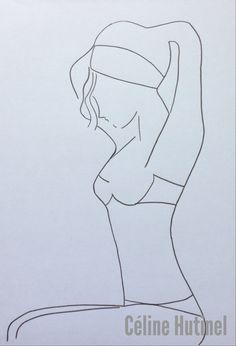 Step two. #femme #dessin #art  crayon papier. Suite . by me.
