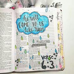 let us press on to know the Lord; his going out is sure as the dawn; he will come to us as the showers, as the spring rains that water the earth. Scripture Doodle, Scripture Study, Scripture Quotes, Bible Art, Bible Verses, Bible Study Tips, Bible Study Journal, Art Journaling, Lds Scriptures