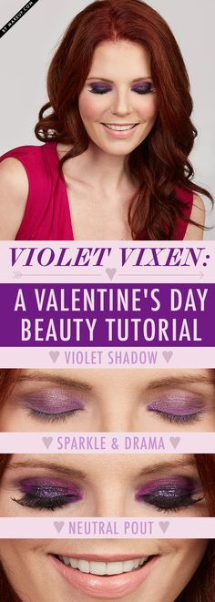 Got a hot date this Valentine's Day? Check out this romantic evening eye makeup look! This blend of purples is sure to get you in the Valentine's spirit. Here's how to get this look!