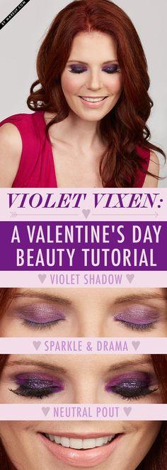 A Valentine's Day Makeup: violet inspiration!