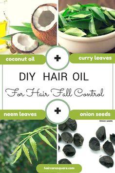 diy hair fall control hair oil