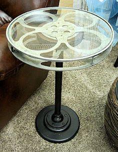 Film reel end table