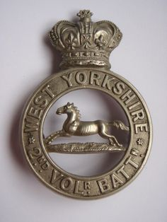 2nd Volunteer Battalion West Yorkshire Regiment Glengarry Badge