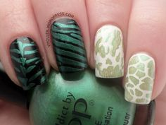 Stamping (QA25) with Tip Top's Lazy Lizard (Nail Addict)