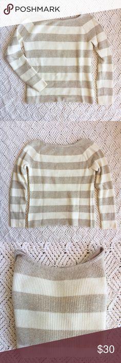1db9e4e308396a Banana Republic Sweater Cream and tan stripped sweater. 72% Cotton