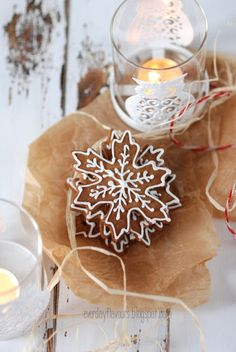 ☆ christmas desserts, xmas, everyday flavour, holiday cookies, candles, snowflak cooki, snowflakes, gingerbread cookies, snowflak gingerbread