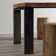 Reclaimed brass plate and oak coffee table pinterest lat n placas y reciclado - Gambe tavolo legno brico ...