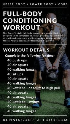 A full-body workout that will target the whole body but specifically the legs and glutes. This workout takes minutes depending on your fitness level.& The post Full-Body Conditioning Workout appeared first on Shane Carlson Fitness. Fitness Workouts, Full Body Workouts, Fitness Motivation, Exercise Motivation, At Home Workouts, Workout Kettlebell, Cross Fit Workouts, Fitness Hacks, Kettlebell Challenge