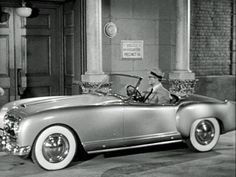 A silver over burgundy, Pinin Farina-designed 1953 Nash-Healey Roadster that George Reeves drove in the 50's Superman series