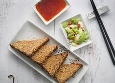 Use gf bread - Discover how to make that classic Chinese takeaway dish, sesame prawn toast, at home with this delicious recipe. Shellfish Recipes, Seafood Recipes, Dinner Recipes, Cooking Recipes, Uk Recipes, Snacks Recipes, Savoury Recipes, Dinner Ideas, Healthy Snacks