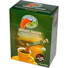 Mount Hagen, Organic Instant Decaffeinated Coffee, 25 Packets, 1.76 oz (50 g)