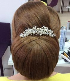big+chignon+bridal+updo+for+long+hair