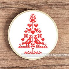Fairy Christmas tree PDF counted cross stitch by galabornpatterns