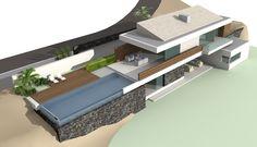 Gran Canaria - Monte León. Exclusiva villa de lujo en construcción de 115.32 m2, en estilo ultra-moderno. Situada a 10 minutos de Playa del Ingles, con vista espectacular a la montaña y al mar.
