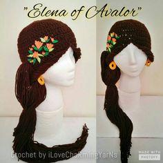 Disney Crochet Hats, Crochet Princess Hat, Crochet Kids Hats, Crochet Girls, Crochet Baby, Hat Crochet, Irish Crochet, Yarn Projects, Crochet Projects