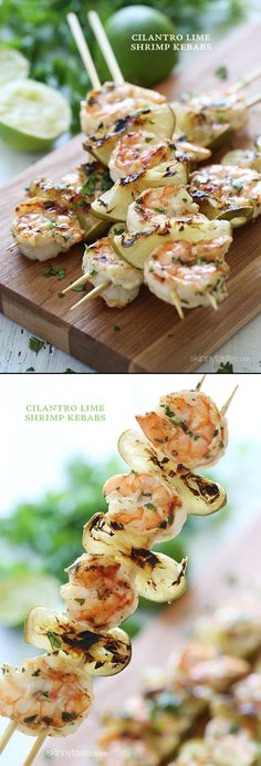 Grilled Cilantro Lime Shrimp  If you like seafood, you must try a delicious shrimp recipe, prepare on the grill. Bring the flavor and aroma of the exotic restaurants in your home. Prepare some delicious grilled shrimps in just 3 steps.