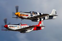 Double North American P-51 Mustang. by Clemens Vasters on Flickr.