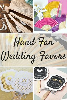Hand fan favors are a must to keep guests cool during your outdoor, country, farm, or backyard wedding ceremony and reception this summer. Place fans on ceremony seats or in the pews of your wedding church for guests to pick up and use during the ceremony. Place fan favors at each place setting of your reception tables for guests to use during the reception and take home as wedding souvenirs. Hand fan favors can be ordered at http://myweddingreceptionideas.com/folding_hand_fans_favors.asp
