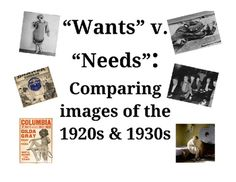 This is a great activity to help students make connections between economic choices of the 1920s with economic consequences of the 1930s. Students engage with images as primary sources and connect them with prior knowledge of the 1920s and 1930s. This activity is meant to be a used as a review or application of learned content.