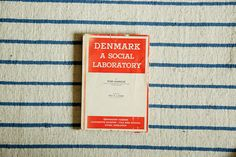 Vintage Book Denmark a social laboratory by MicroscopeTelescope