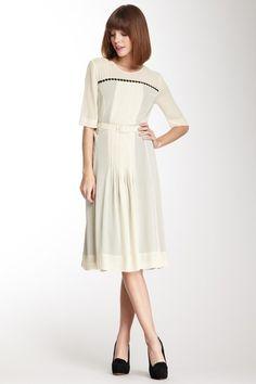 Pleat Front Dress