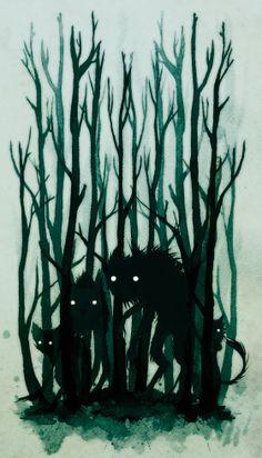 trolls lurking in the forest - Jenni Saarenkyla