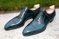 MTO model Maverick Riccardo Bestetti Pine green French box calf & hand welted, Denis MTO
