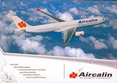 Aircalin Airbus A330 Postcard
