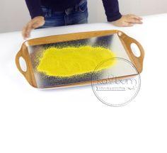 Piasek żółto-limonkowy z Kabum