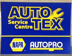 1 of 2 identical illuminated signs for AutoTEX done by Speedpro Imaging Erin Mills Ontario!  Great work!
