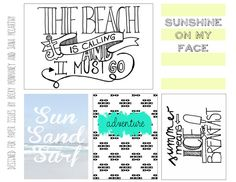 Free The Beach Printable from Paper Issues {store checkout required}