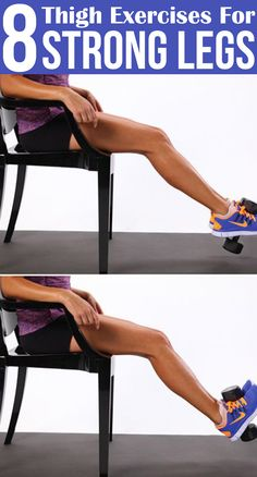 8 Thigh Exercises For Strong Legs #thighexercises #exercises