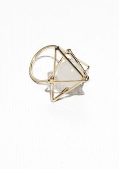 Structural Cage Back Drop Earrings | Gold | & other stories, Other ...
