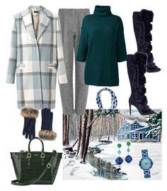 """""""Winter ❄❄❄"""" by parnett ❤ liked on Polyvore featuring Acne Studios, Miss Selfridge, Lands' End, Gianvito Rossi, Aspinal of London, Christian Dior, UGG, Tacori, Miriam Haskell and plus size clothing"""