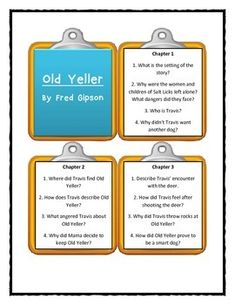 old yeller by fred gipson harper novel ideas  old yeller by fred gipson discussion cards