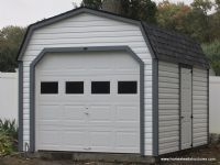 10 x 14 laurel dutch barn vinyl siding prebuilt and can be delivered fully - Pre Built Garage