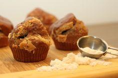 Proteinové muffiny s arašídovým máslem /Protein muffins with peanut butter/ Bezlepkový a nízkosacharidový zdravý recept /Gluten free and low carb healthy recipe/