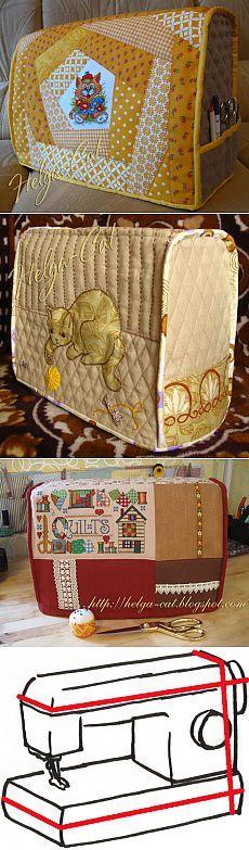 Домик вышивающей кошки: Чехол для швейной машины - как его сшить