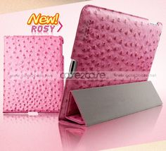 http://www.case2case.net/ostrich-leather-smart-cover-with-back-cover-for-ipad-2-ipad-3-rosy.html  Ostrich Leather smart cover with back cover for ipad 2 ipad 3 Rosy