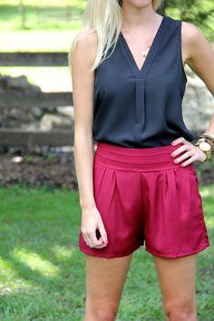 Finley Shorts - Garnet - YT Clothing