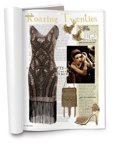 """roaring twenties"" by chiarettadesign ❤ liked on Polyvore featuring J.Crew"