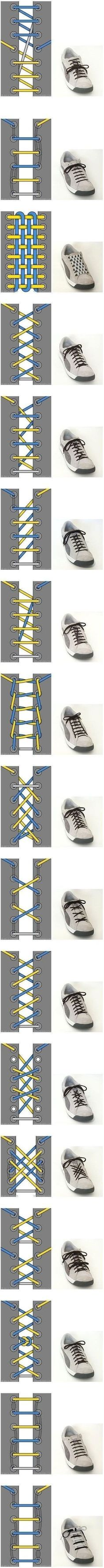 to tie a shoe! I love this. I always did tie my shoes different.♞ now i can teach my kids.☺