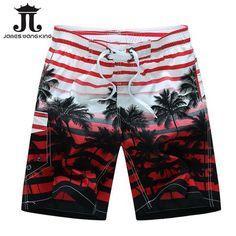 Bermuda Summer 2018 Men Beach Shorts fashion Printing coconut trees  BoardShorts Quick-drying shorts for men Plus size M-6XL fc17f756fb