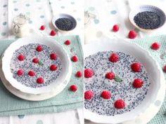 Porridge de graines de chia aux framboises et graines de sésame noir • Hellocoton.fr