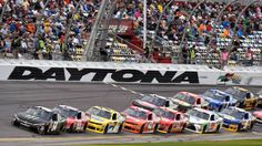 NASCAR announces 2017 start times, moving closer to primetime Nascar Daytona, Daytona 500, Daytona Beach, Famous Beaches, Tv Schedule, Start Time, Dale Earnhardt Jr, Live Life, Race Cars